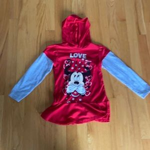 Minnie Mouse long sleeve hooded T